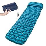 Akunsz Isomatte Camping Luftmatratze Outdoor Isomatte - Kleines Packmaß - Isomatte mit Integriertem Kissen aus TPU - Schlafmatte für Camping