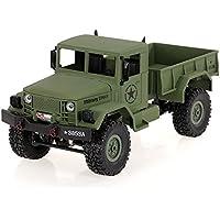 Goolsky WPL B-1 1/16 2.4G 4WD Off-Road RC Truck Rock Crawler Army Car Camión militar del coche de la correa del rastreador de la roca