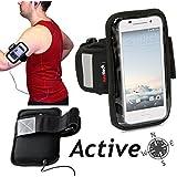 Navitech brassard noir sport / jogging / randonnée / cyclisme / vélo résistant à l'eau pour Lenovo K5