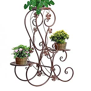 A 3 piani in metallo da giardino patio supporti per for Piani patio gratuiti