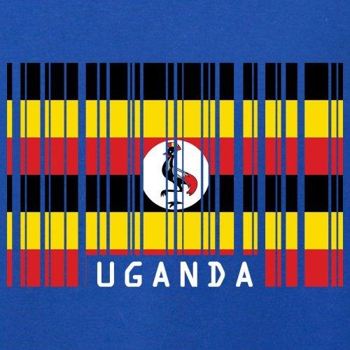Uganda / Republik Uganda Barcode Flagge - Herren T-Shirt - 13 Farben Royalblau