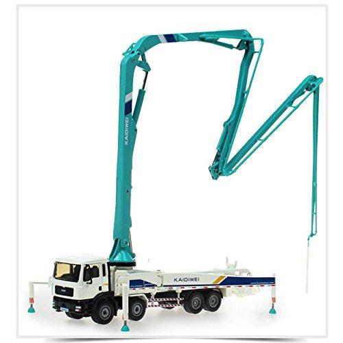 FEI Jouets Camion de pompe à béton ciment 1:55 Alliage modèle de véhicule d'ingénierie en métal jouets pour enfants Collection d'ornements pour adultes blanc + vert Début Éducation