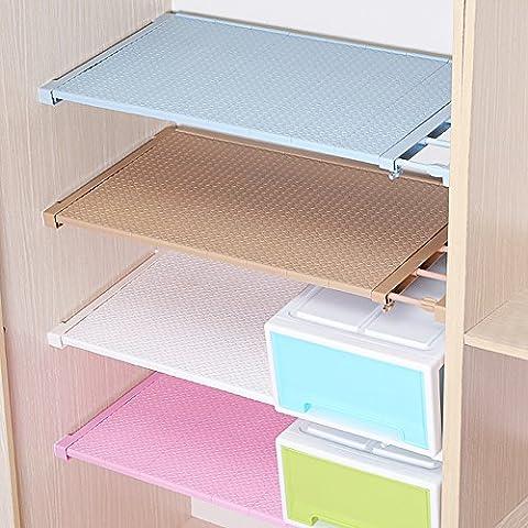 hyfanstr verstellbar Schrank Regal Organizer Kleiderschrank Trennwand Halter Storage Rack, plastik, braun, 24CM (24 Wire Shelf)