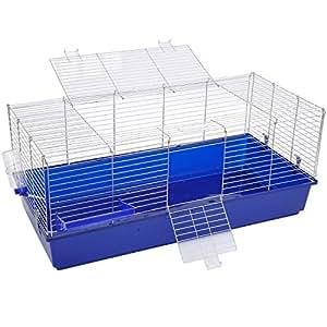 PawHut Large Rabbit Cage Guinea Pig Chinchilla Rat Hutch House Playpen Run 120(L) X 58(W) X 40(H)cm
