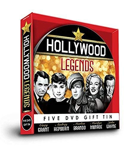 Hollywood Legends - 5 DVD GIFT TIN - Cary Grant, Audrey Hepburn, Marlon Brando, Marliyn Monroe & John Wayne [UK Import]