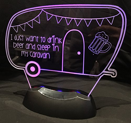 LED Nightlight Caravan BEER Lovers Great gift idea! Desk Table Lamp Light