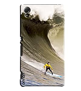 Omnam Water Skiing Printed Designer Back Cover Case For Sony Xperia Z4