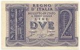 Cartamoneta.com 2 Lire Biglietto di Stato Fascio LITTORIO tra Rami di Quercia 14/11/1939 qFDS