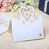 20Blanco Pearly Corazón mesa Rotuladores brillantes para fiestas y bodas, tarjetas, invitaciones