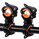 Medlife Bici torcia bici torcia staffa di montaggio, bici torcia, luce per bicicletta morsetto, confezione da 2