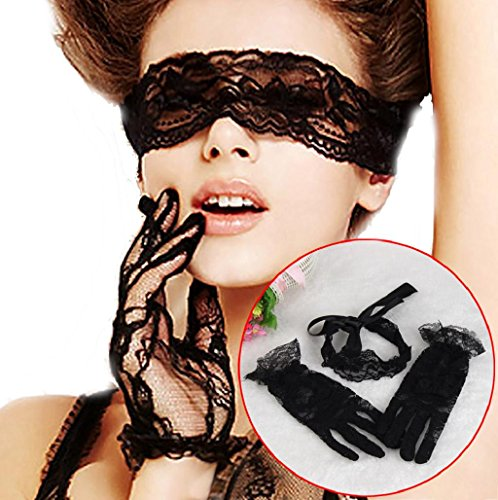 Para Mascarada Sannysis kit de máscara para ojos, guantes de encaje