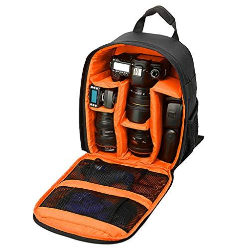 Borsa a tracolla Vovotrade® Sacchetto della Macchina Fotografica DSLR Cassa Impermeabile per Canon Nikon Sony Zaino da viaggio smorzamento impermeabile esterno multifunzionale (taglia unica, arancia)