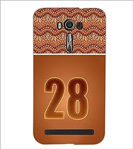 PrintDhaba Numerology Number 29 D-3664 Back Case Cover for ASUS ZENFONE 2 LASER ZE550KL (Multi-Coloured)