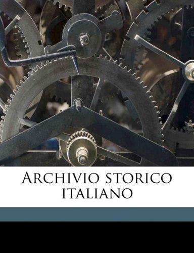 Archivio storico italiano Volume 43, Series 5