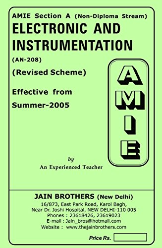 AMIE Electronics and Instrumentation AN-208 Solved Paper