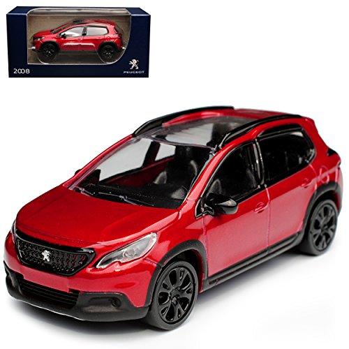 Norev Peugeot 2008 SUV Rot Ab 2013 1/64 Modell Auto mit individiuellem Wunschkennzeichen