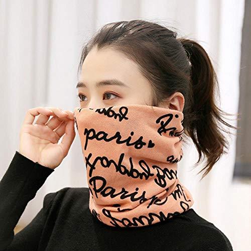 SHMAYU Männer und Frauen Herbst und Winter Studenten Kragen Kinder gestrickte warme Maske Hals Nackenkappe Kleinbuchstaben Pulver