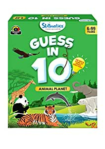 Skillmatics - SKILL34GAP Educational Game : Animal Planet - Guess in 10 (Ages 6-99 Years) | Card Game of Smart Questions | General Knowledge for Kids, Adults and Families