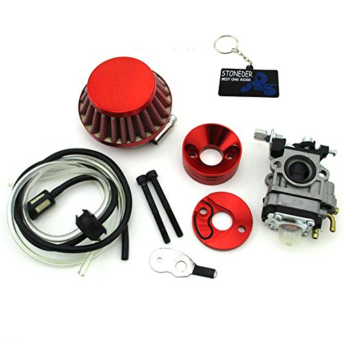 STONEDER Rot Vergaser Air Filter Stack Mini ATV Pocket Dirt Bike Gas Scooter goped