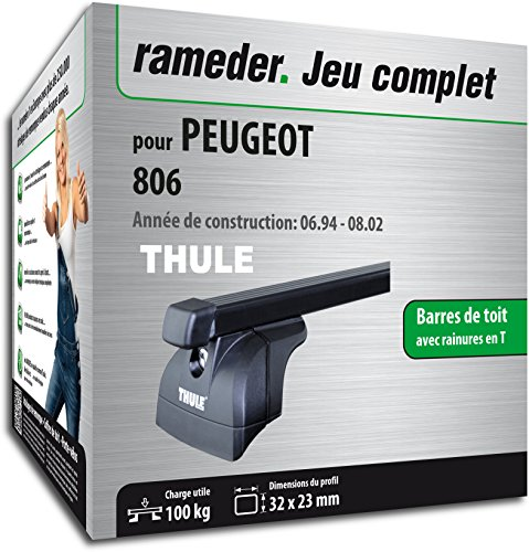 Rameder Pack Barres de Toit SquareBar pour Peugeot 806 (116068-00049-7-FR)