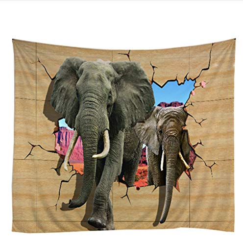 LoveTapestry Tapiz De Elefantes De Playa Colgante De Pared Varita del Atardecer...