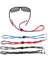 CRZKO Cordon à Lunettes, Sport Lunettes Elastique Soleil Réglable Bracelets  de Lunettes Cordon de Cou 4a3726f7208a