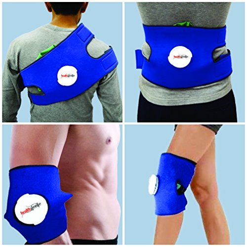 Healthgenie Hot and Cold Pain Relief Ice Bag Pack with Adjustable Wrap and Extension Band (Multicolor)