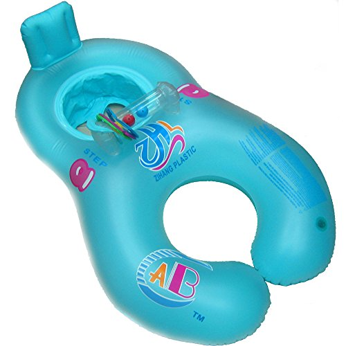 New Inflatable Mother Baby Soft Swim Float Raft Kid s Chair Seat Swim Ring Pool