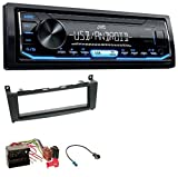 caraudio24 JVC KD-X151 1DIN USB Aux MP3 Autoradio für Mercedes C-Klasse (W204 ab 2007)