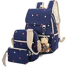 Las mujeres impresión MinegRong Mochila mochilas escolares adolescentes bolsas para gril Canvas de gran capacidad Bolsa