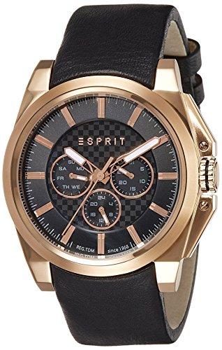 ESPRIT Men's Quartz Watch with TP10871Night Analogue Quartz Leather ES108711002