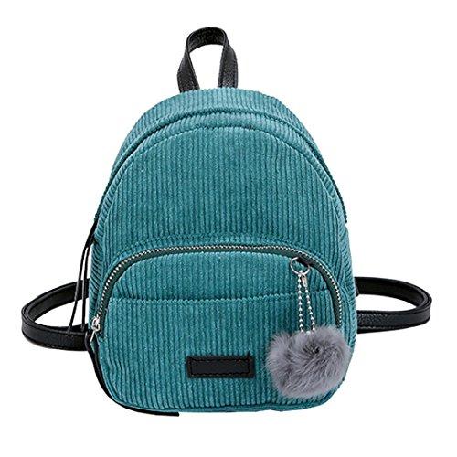 LHWY Damen Rucksack Mode Mädchen Hairball Cord Schultasche Student Rucksack Satchel Travel Schultertasche (Green) -