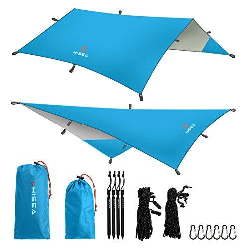 Hisea Hamaca Lona Rain Fly Tent Tarps 3m x 3m -...