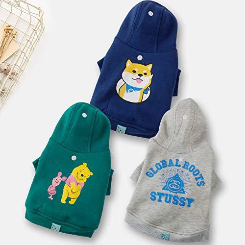 PZSSXDZW Pet Kleidung Frühling und Sommer Modelle kleine und mittlere Hunde Teddy Golden Mao Kapuzenpullover süße Neue ()
