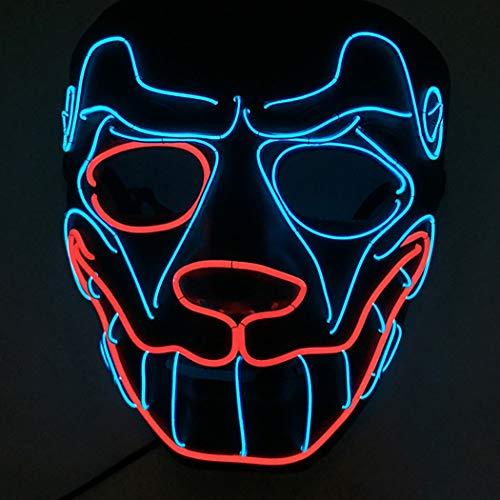 Halloween Maske LED Mops Kopf Form Party Kostüm Maske Cosplay Maske