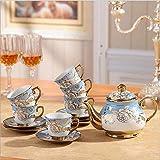 LFHKP Tasse à café européen Exportation mis après-midi Tasse thé théière cafetière Cadeau de Mariage de galvanoplastie