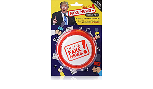 Great Republican Gifts for Men and Women 11 Hilarious Fake News Quotes That is Fake News Button Funny Political Merchandise Donald Trump Real Voice Talking Desk Item Batteries Included