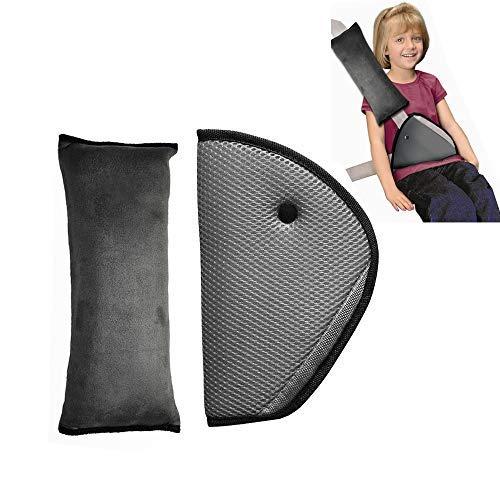 Sangle de ceinture de sécurité, Housse Infreecs enfants Safety Car Ceinture de sécurité Coussinets d'épaule Coussin support de cou avec clip de ceinture de sécurité
