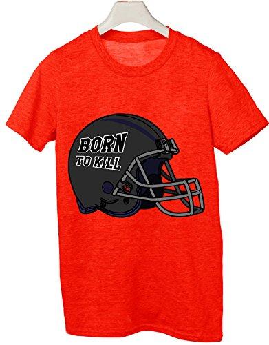 Tshirt born to kill football - rugby - sport - Tutte le taglie by tshirteria Rosso