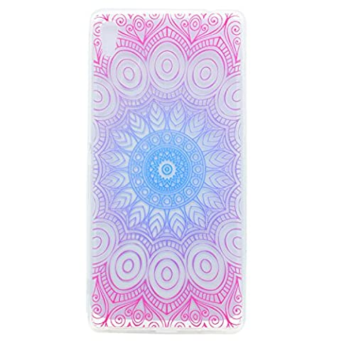 Lonchee Sony Xperia XA Ultra / Sony Xperia C6 Case Cover, Color printing pattern Transparent Clear Soft TPU Bumper Back Cover Skin Protective Cover Cell Phone Case for Sony Xperia XA Ultra / Sony Xperia C6 - Datura flowers