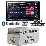 Audi A4 B7 BOSE - Pioneer AVH-X5800DAB - 2DIN Multimedia Autoradio inkl. DAB Antenne - Einbauset