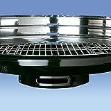 Algon AB03, Barbacoa con bandeja de acero inoxidable, negro, 66 cm de altura