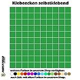5200 Klebeecken 5mm 17 verschiedene Farben selbstklebend Aufkleber Inventur Kreise Punkte Markierung (Grün)