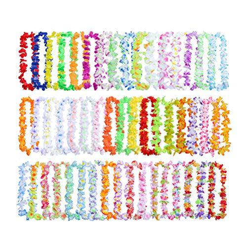 Toyvian Blume Halskette bunten hawaiischen Leis tropischen Luau Garland Party Favors Strand Hula 50PCS Kostüm Zubehör