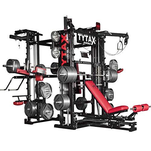 Todos los accesorios y mangos necesarios para realizar los ejercicios están incluidos en el equipo estándar de la máquina. Las barras, pesas, mancuernas y opciones adicionales no están incluidas en el equipo estándar de la máquina, a menos que estén ...