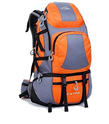 BM 45L uomini e donne borsa a tracolla grande capacità impermeabile Zaini campeggio zaino outdoor , Yellow Orange
