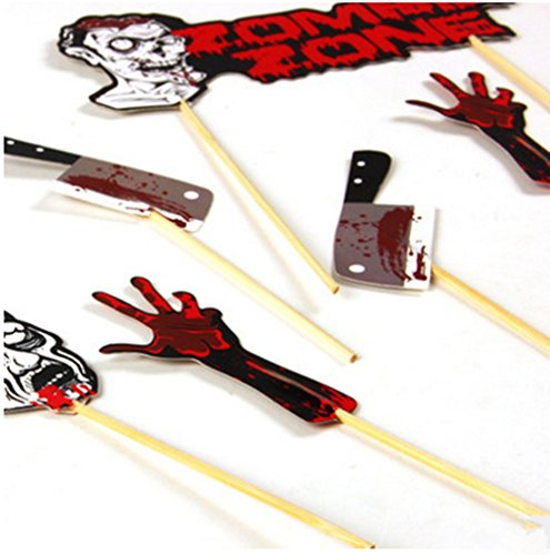VNFEI DIY Kit Halloween Foto Booth Stick Requisiten Party Dekoration mehrfarbig