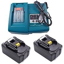 2PCS 18V 3.0A Makita BL1830 con 1PCS Cargador DC1803 DC1804 DC18RA DC18SC para Makita batería de herramientas eléctricas
