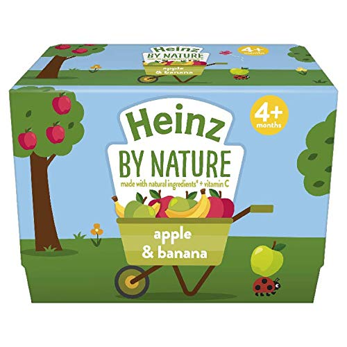 Heinz Apple & Banana Fruit Pots, 100 g (pack of 4)