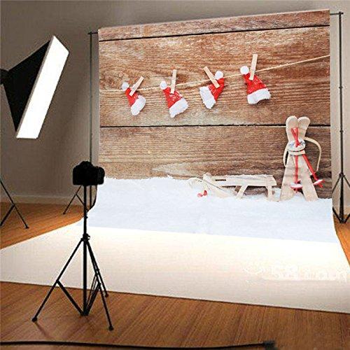 King Do Way Fondo Navidad fotografierte plástico Hinte rgru Extremo Shooting Props fotografía Studio Backdrop Estudio Fotográfico 1.5x 2.1m